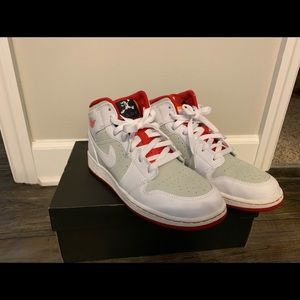 "Jordan Shoes - Nike Jordan Retro 1 ""Hare"" 7Y."